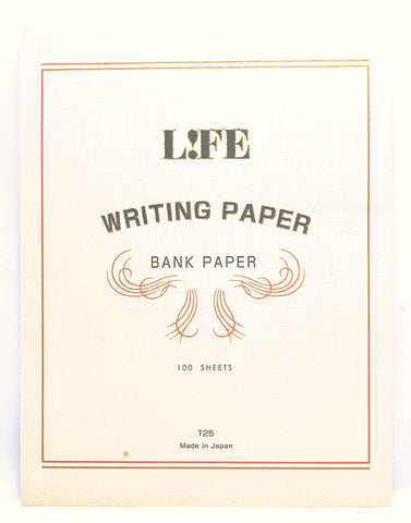 Life Stationery Bank Paper Large Top Bound