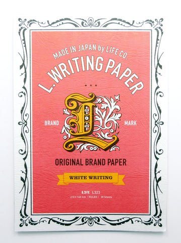 Life Stationery L. Writing Paper- A5 Red Cover