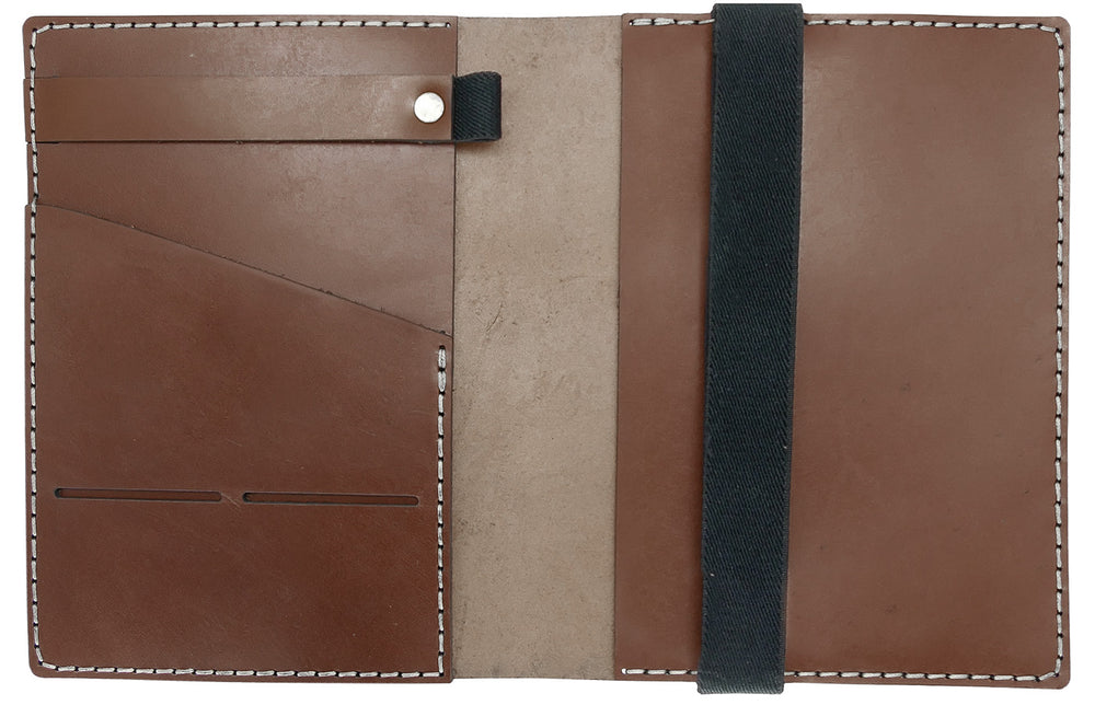 Galen Leather Co. Leather Hobonichi Cousin A5 Planner Cover- Brown
