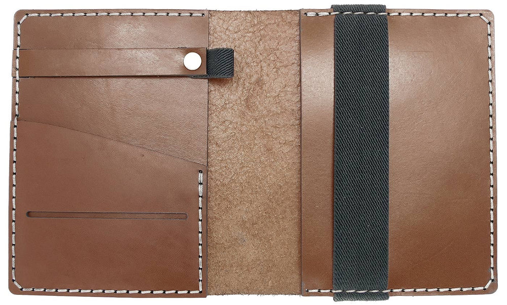 Galen Leather Co. Leather Hobonichi Techo A6 Planner Cover- Brown