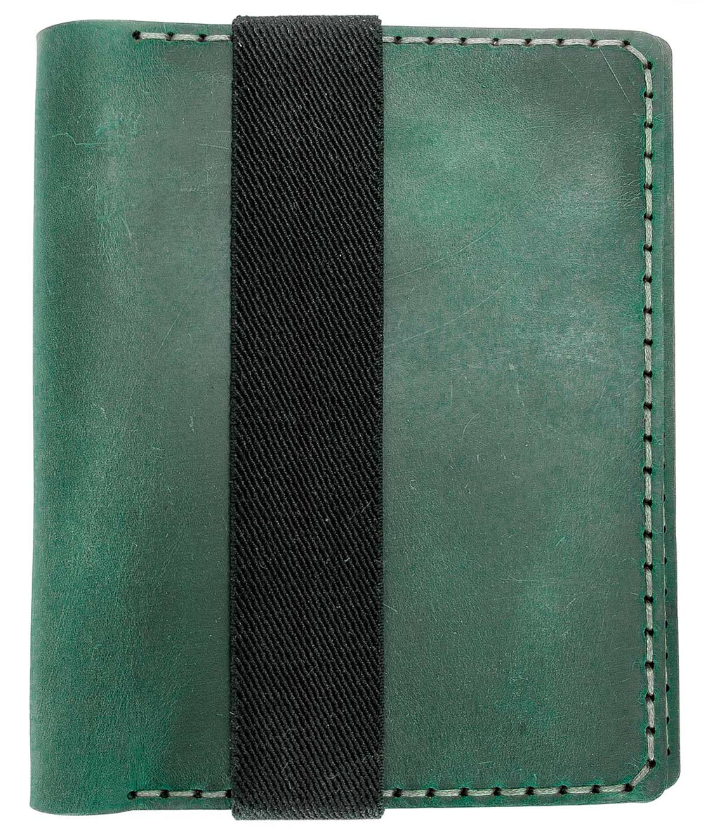 Galen Leather Co. Leather Hobonichi Techo A6 Planner Cover- Crazy Horse Forest Green