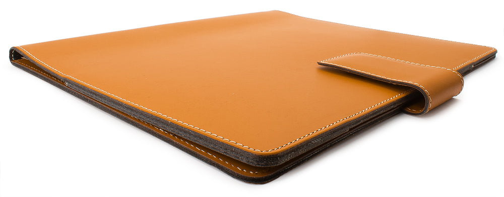 Fiorentina Leather Portfolio w/ Snap Close- British Tan