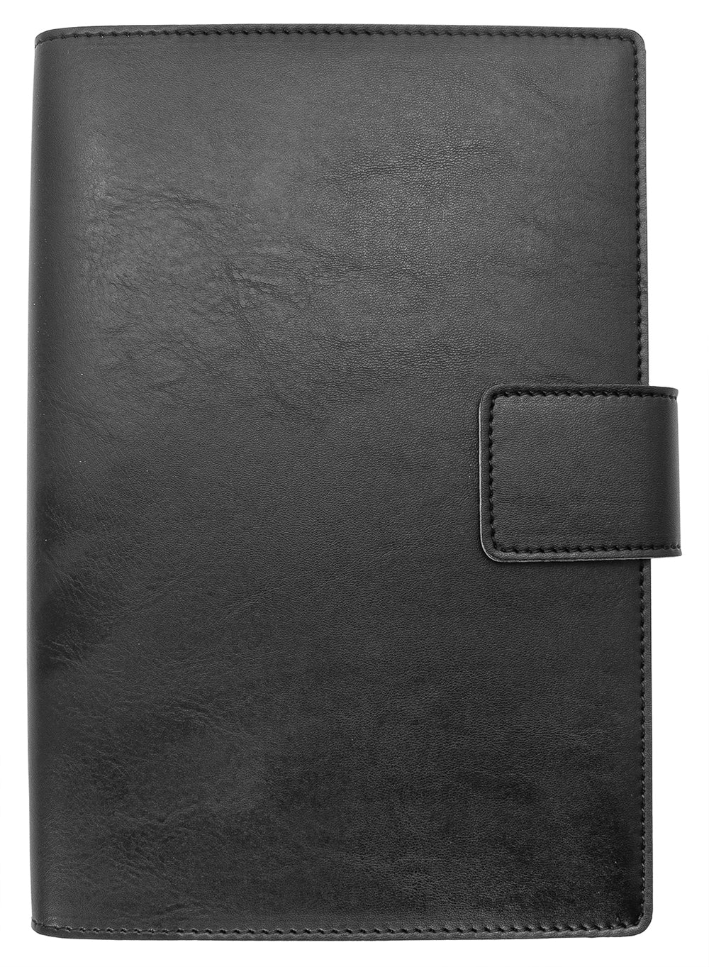Fiorentina Refillable Bi-Color Snap Journal Black w/ Tan Interior