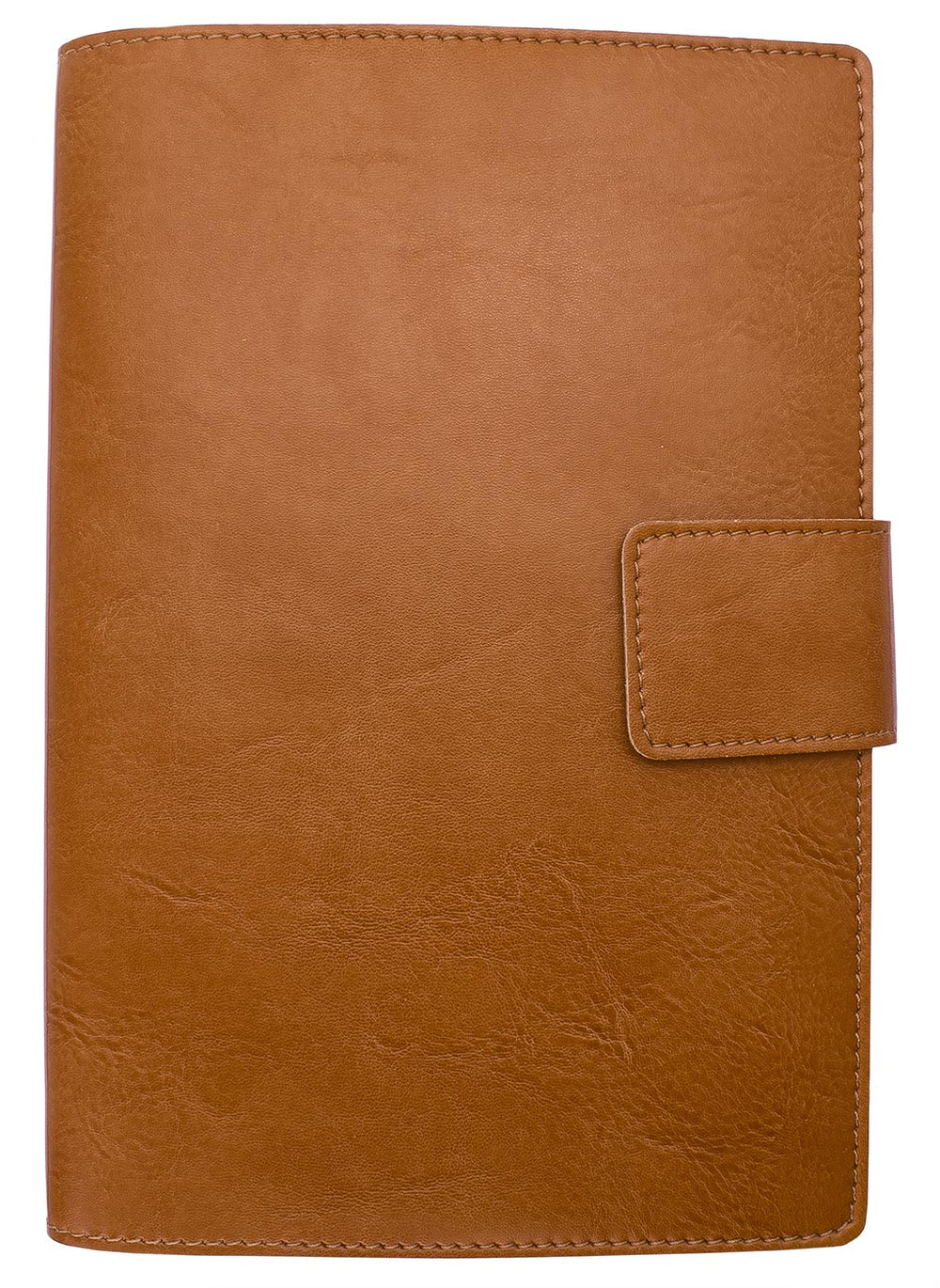 Fiorentina Refillable Bi-Color Snap Journal Cognac w/ Dark Brown Interior