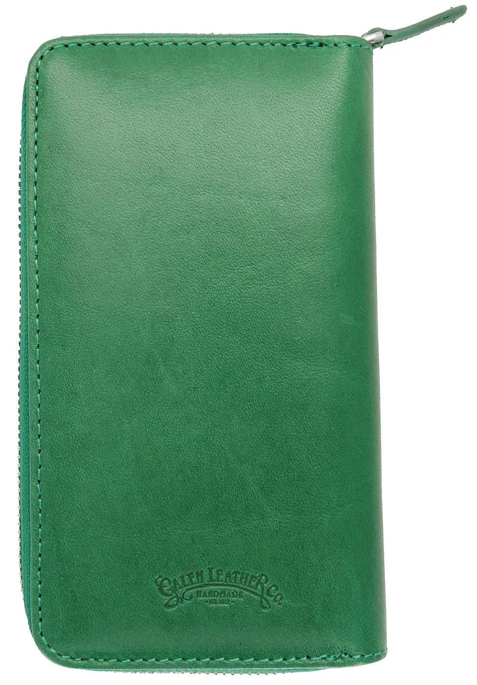 Galen Leather Co. Zippered 3 Slot Pen Case- Green