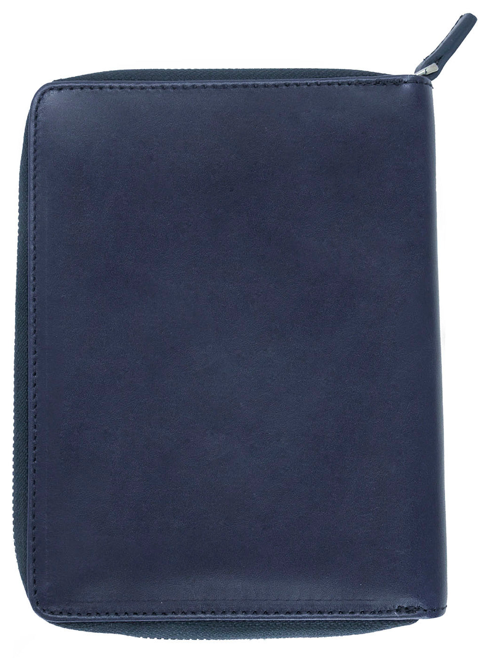 Galen Leather Co. Zippered 5 Slot Pen Case- Navy