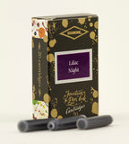 Diamine Lilac Night fountain pen ink is available in a pack of 20 standard international cartridges
