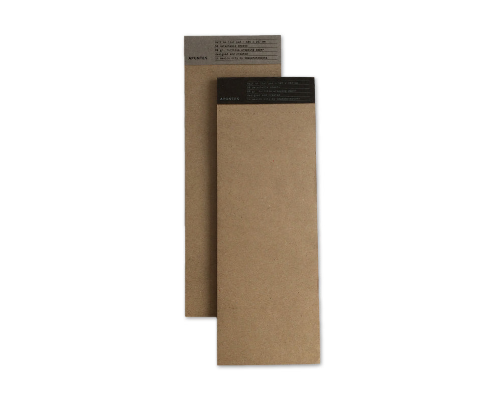 Apuntes Tortilla Wrapping Half A4 List Notepad- Kraft