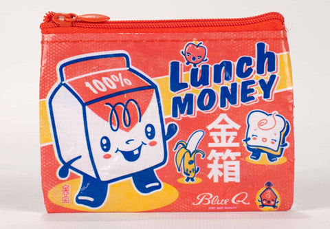 "Blue Q Coin Purse ""Lunch Money"""