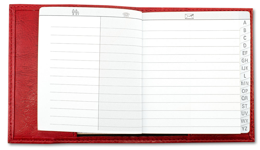 Exacompta Madeira Pocket Address Book - Red