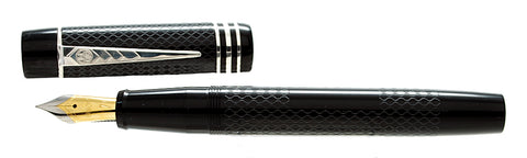 Onoto Magna Classic Black & Silver Fittings with Chasing