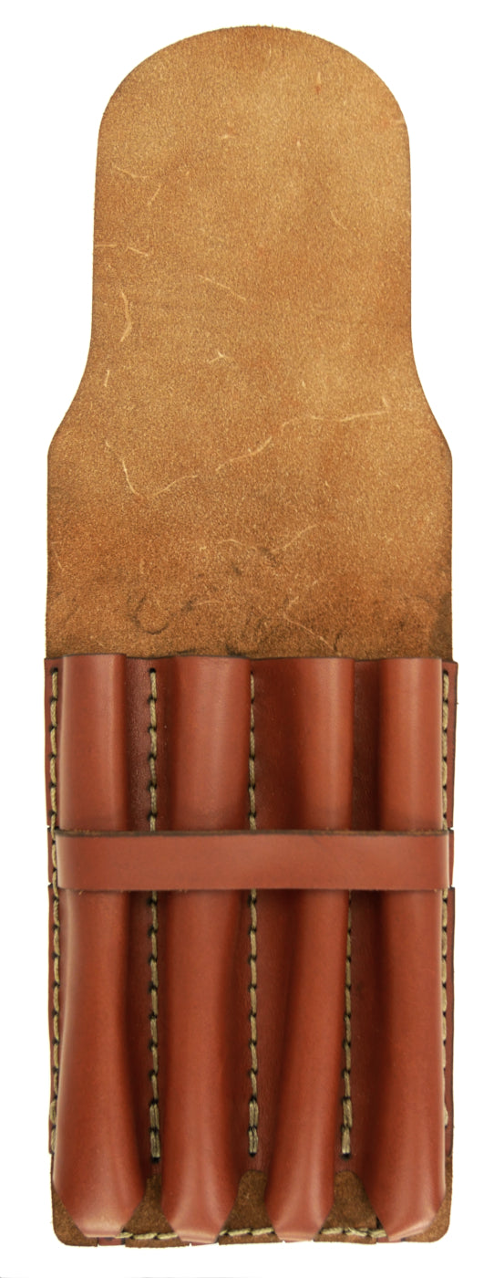 Galen Leather Co. Major Leather Fountain Pen Case- Brown