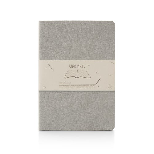 "Ciak Mate Slim 6"" x 8"" Notebook- Light Grey"