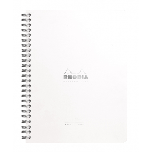 Rhodia A5 Meeting Book- Ice