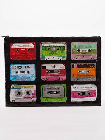 "Blue Q Jumbo Zippered Pouch ""Mixtape"""