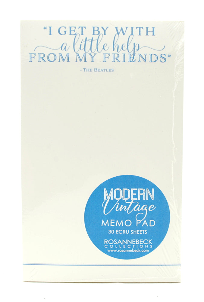 RosanneBeck Collections Modern Vintage Memo Pad- The Beatles