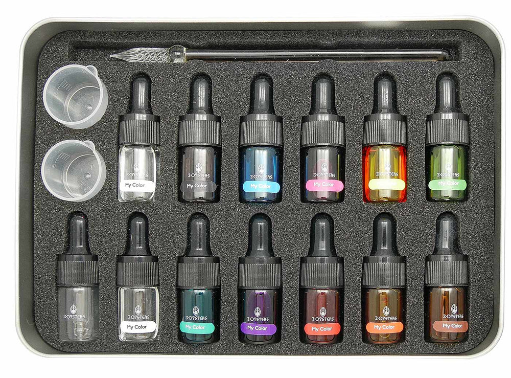 3Oysters My Color DIY Ink Starter Kit 12 colors x 5ml