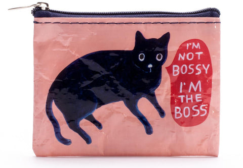 "Blue Q Coin Purse ""I'm the Boss"""