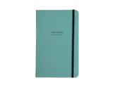 Apuntes Medium Hard Cover Notebook- Celeste/Negro