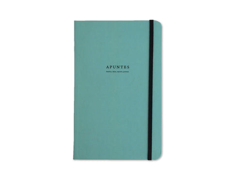 Apuntes Classic Hard Cover Notebook- Celeste/Negro