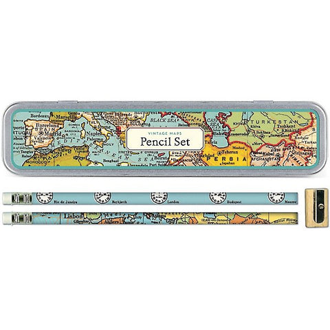 Cavallini & Co. Vintage Maps Pencil Set