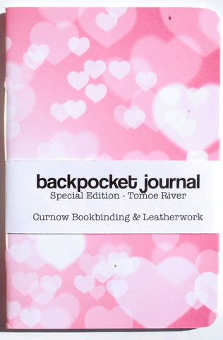Curnow Backpocket Pink with White Hearts Tomoe River