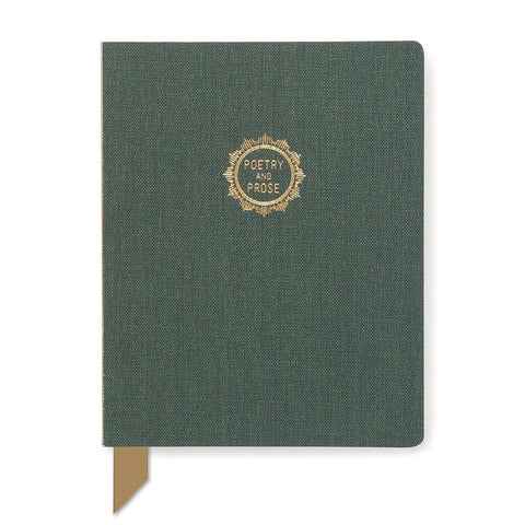 "DesignWorks Exposed Spine Perpetual Planner- Emerald ""Poetry and Prose"""