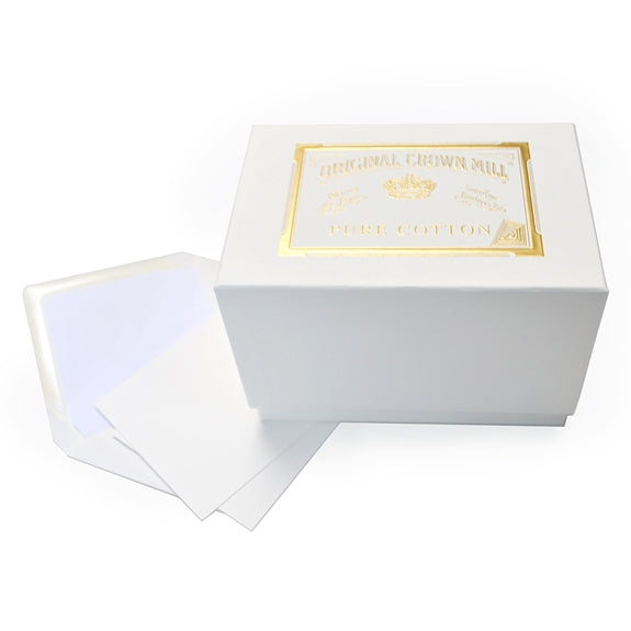 "Original Crown Mill Pure Cotton Correspondence Presentation Box- 4"" x 6"""
