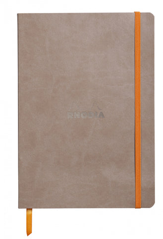 "Rhodia Soft Cover Rhodiarama 7.5"" x 9.75"" Taupe Notebook"