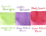 Ferris Wheel Press Ink Charger Set- Emma Palette (Sweet Honeydew, Little Robinia, Pink Eraser)