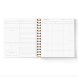 Smitten On Paper Future is Bright Monthly Undated Planner Black