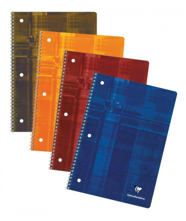 Clairefontaine Classics A4 Side Wirebound Notebook-Lined (3-Hole Punch)