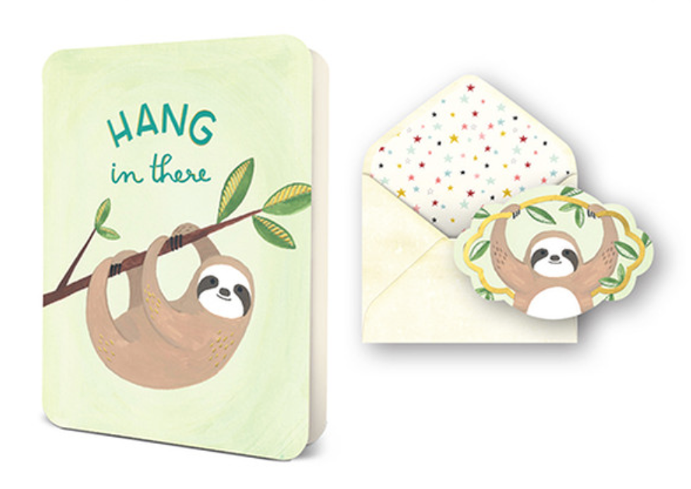 "Studio Oh! ""Hang In There"" Sloth Sympathy Card"