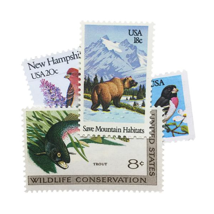 Frankie & Claude Vintage Postage Stamps  |  Animals + Nature