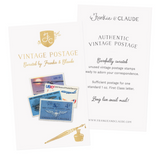 Frankie & Claude Vintage Postage Stamps  |  Aviation + Air Mail