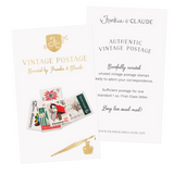 Frankie & Claude Vintage Postage Stamps  |  Christmas