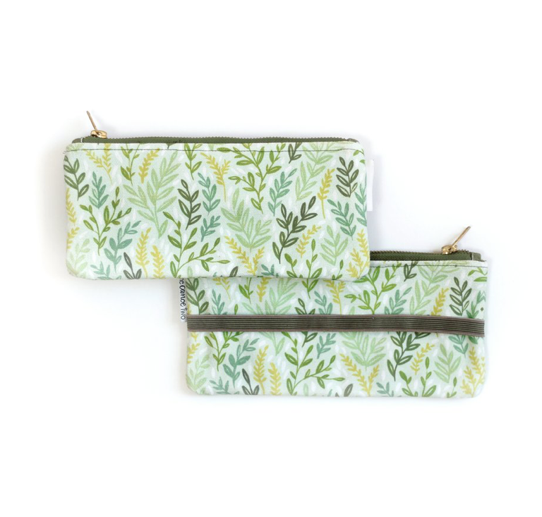 OneCanoeTwo Mint Meadow Pen Pouch With Elastic Band