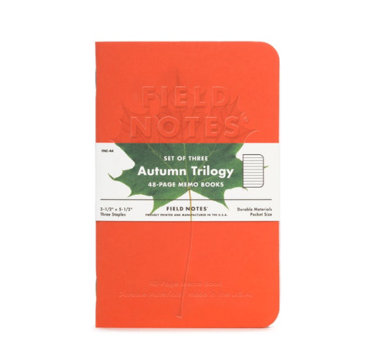 "Field Notes Autumn Trilogy ""Impressions of the Season"" 3-Pack"