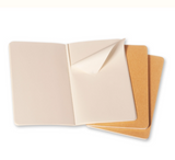 Moleskine Cahiers Collection - Set of 3 Plain Pocket Journals