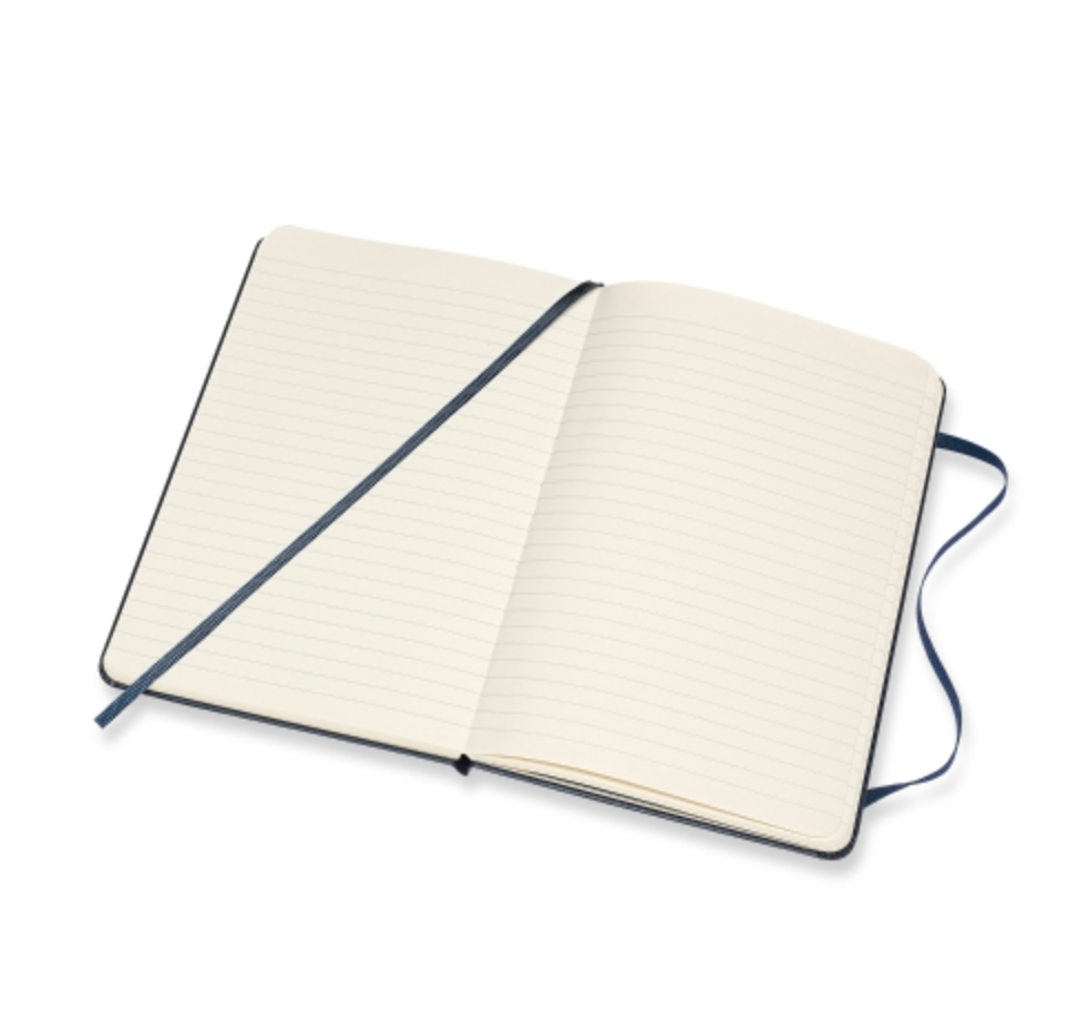 "Moleskine Classic Collection  |  5"" x 8.25"" Ruled Notebook Sapphire Blue"