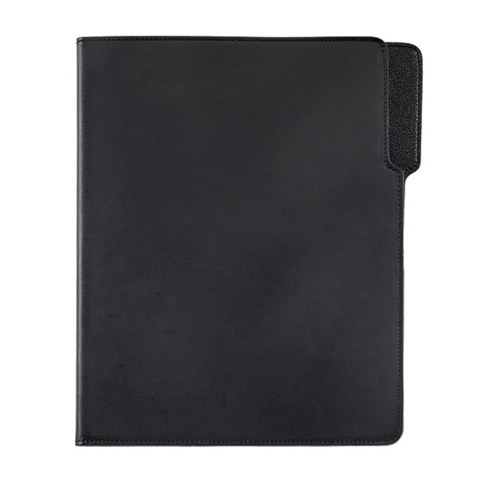 Graphic Image Hugo Portfolio- Black Italian Bonded Leather, Black Interior