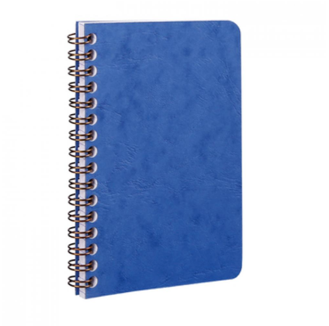 Clairefontaine Basic Notebooks Side Wirebound 3 ½ x 5 ½ Lined - Blue