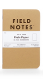 Field Notes Kraft Plain  Paper
