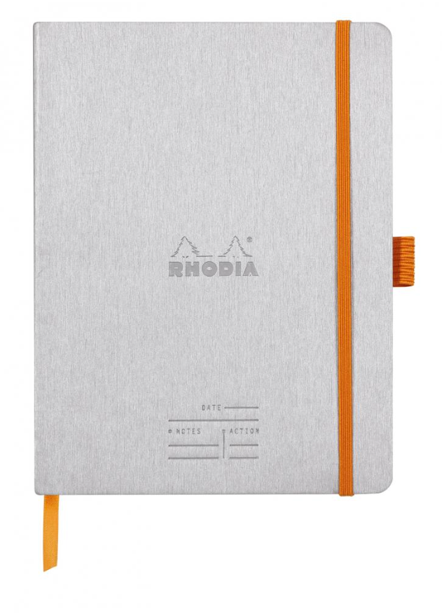 Rhodia Rhodiarama A5 Meeting Book w/ Pen Loop - Silver