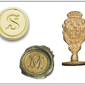 Freund Mayer Round Brass Initial Wax Seal