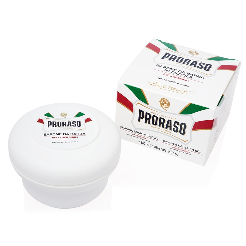Proraso Shave Soap in a Jar- Sensitive Skin Formula