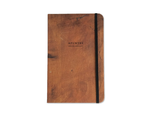 Apuntes Classic Hard Cover Notebook- Silla Madera