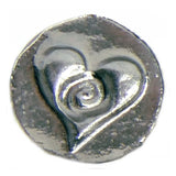 Global Solutions Metal Wax Seal Small Heart with Swirl