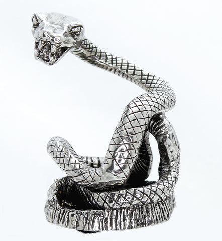 "Jac Zagoory ""The Guardian"" Coiling Snake Pewter Pen Holder"