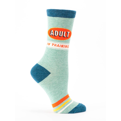 Blue Q Women's Crew Socks, Adult In Training